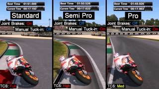 MotoGP 14 Handling test part 1 - Consistency and Assists