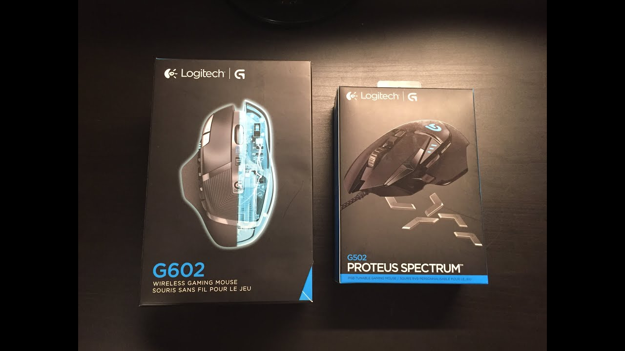 Logitech G502 vs G602 Gaming Mouse