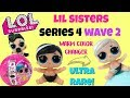 LOL Surprise Series 4 WAVE 2 lil Sisters Unboxing Ultra Rare Lil Yin B.B Weight and Ball Placement