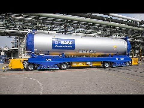 Erstes automatisch fahrendes Fahrzeug bei BASF in Ludwigshafen