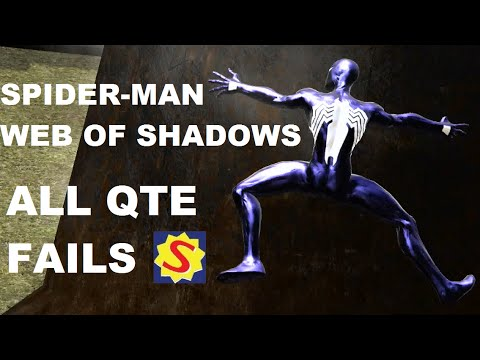 All Quick Time Event Fails - Spider-Man Web of Shadows