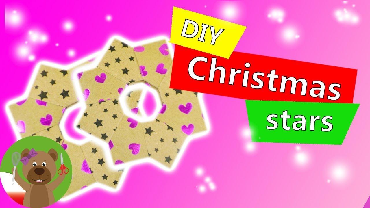 Składanie gwiazdek świątecznych z papieru | bardzo prosty sposób dla dzieci