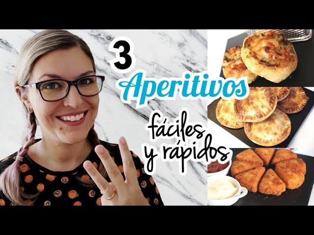 3 APERITIVOS FÁCILES Y RÁPIDOS *Picoteo para Fiestas*