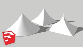 SketchUp 2015 Lessons: Curved Tents