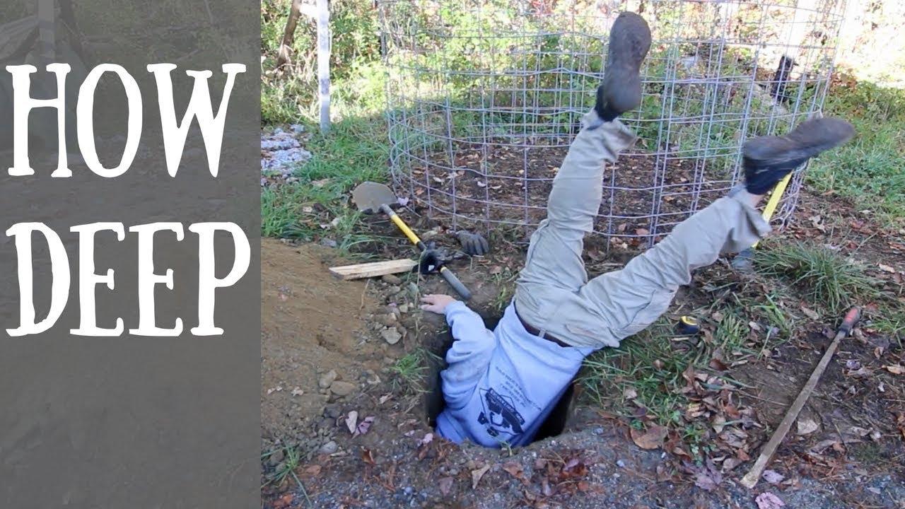 Burying A 20 Ft Long Telephone Pole Youtube