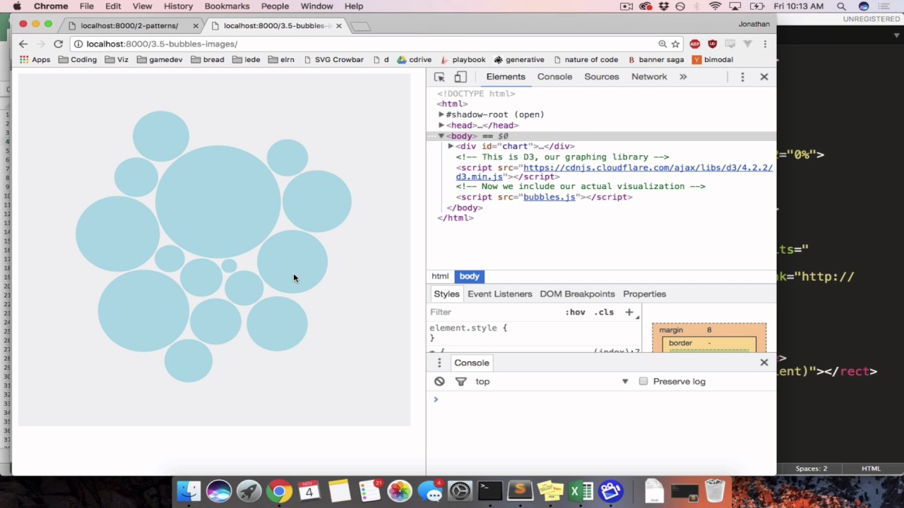 Using images in D3 bubble charts, Part 1 (SVG defs/patterns)