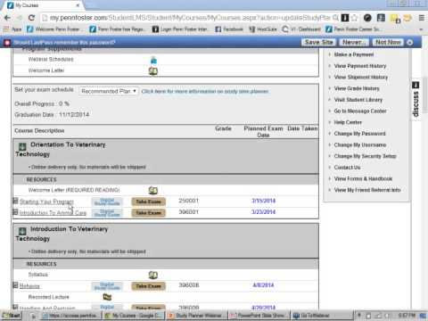 Penn Foster Study Planner Webinar 3-13-14