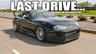 homepage tile video photo for Toyota Supra's LAST DRIVE at 550whp... before we send it