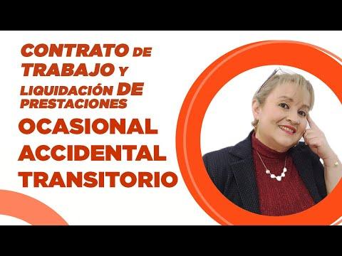 380. Contrato de Trabajo: OCASIONAL-ACCIDENTAL o TRANSITORIO