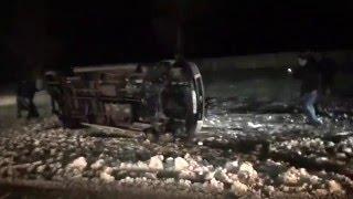 ДТП .Перевёрнутое маршрутное такси и две разбитые БМВ в Василькове.