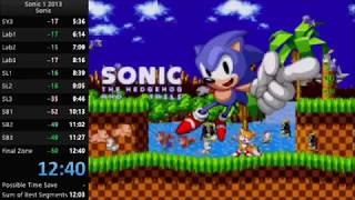 Sonic the Hedgehog (2013) Sonic Speedrun in 12:40 [Current World Record]