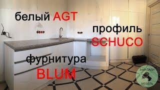 Обзор белой кухни без ручек по индивидуальному проекту