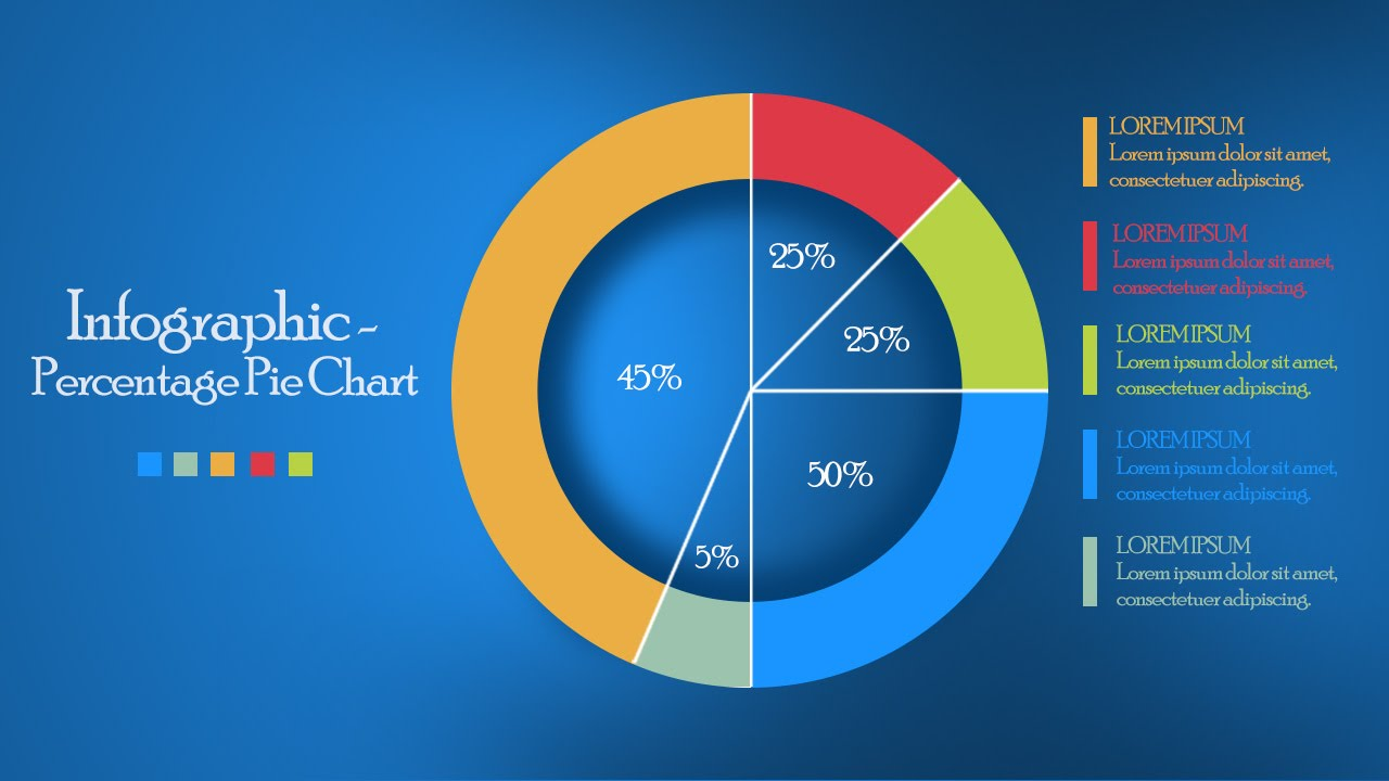 Infographic tutorial in photoshop 05 circle pie chart youtube ccuart