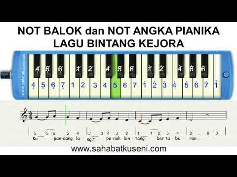 Not Angka Dan Not Balok Pianika Lagu Bintang Kejora