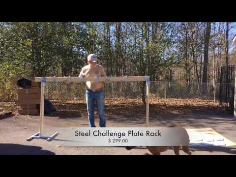 The Steel Challenge Plate Rack from MGM Targets