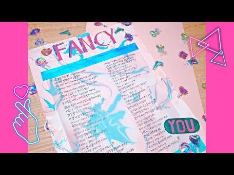 "[ Lyrics ] - ♡ "" 트와이스(TWICE) FANCY 가사쓰기 Twice FANCY Handwritten Lyrics "" ♡"