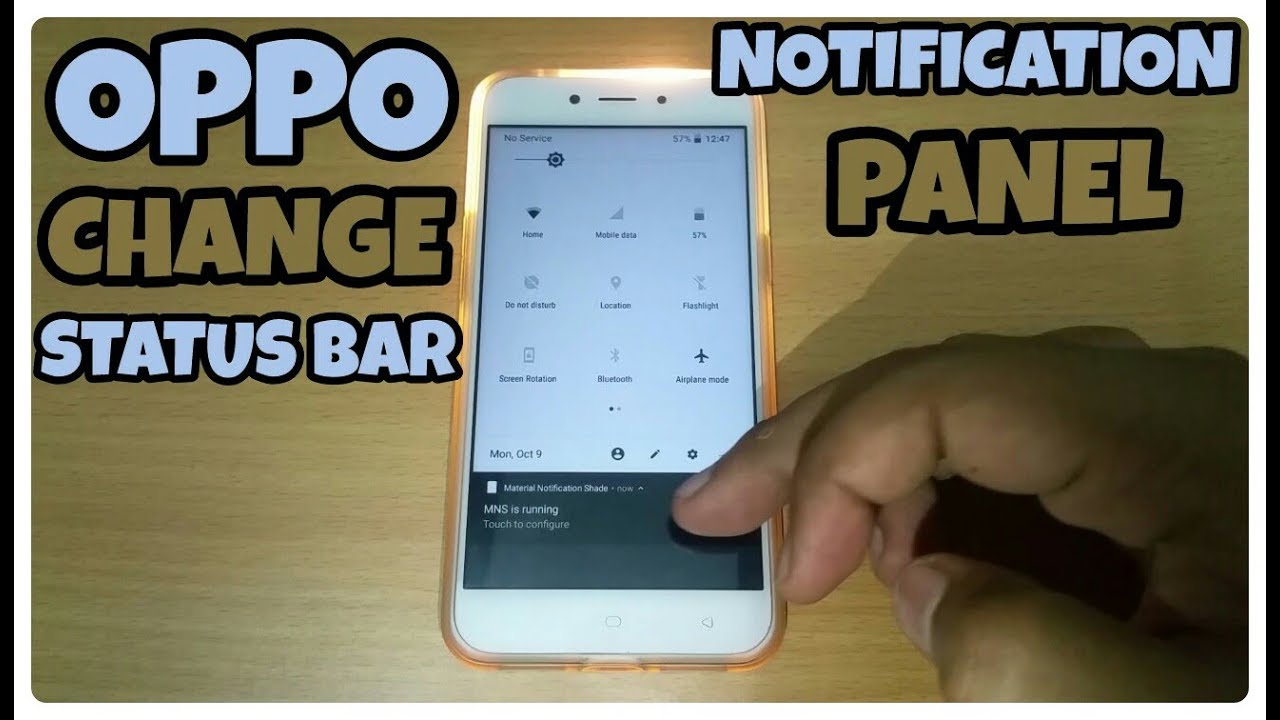 Change Status Bar Notification Panel in Oppo,Samsung,Vivo & Xiaomi