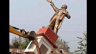 BJP supporters create ruckus in Tripura, 'Lenin' statue demolished