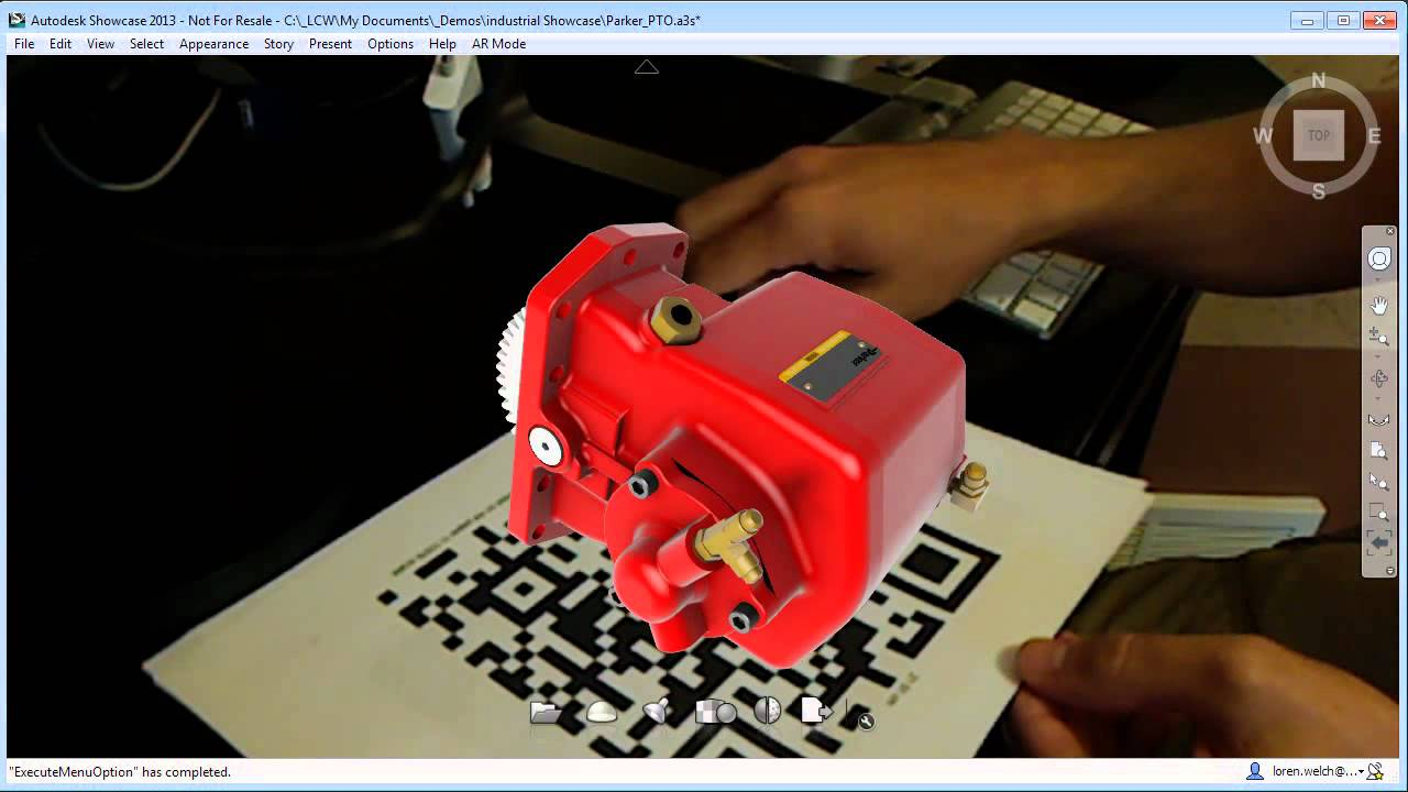 569b4c371c1 Augmented Reality Plug in for Autodesk Showcase - YouTube