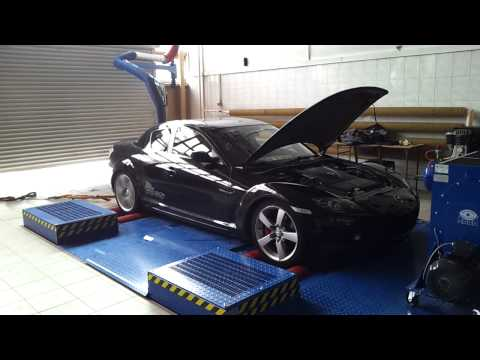 MAZDA RX8 DYNO TEST EXHAUST FIRE !!! :) 231 HP