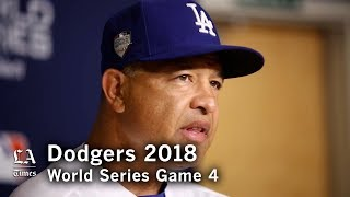 World Series 2018: Dave Roberts on the Dodgers losing Game 4