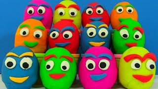 Many Play Doh Surprise Eggs Shopkins Masha i Medved Disney Princess
