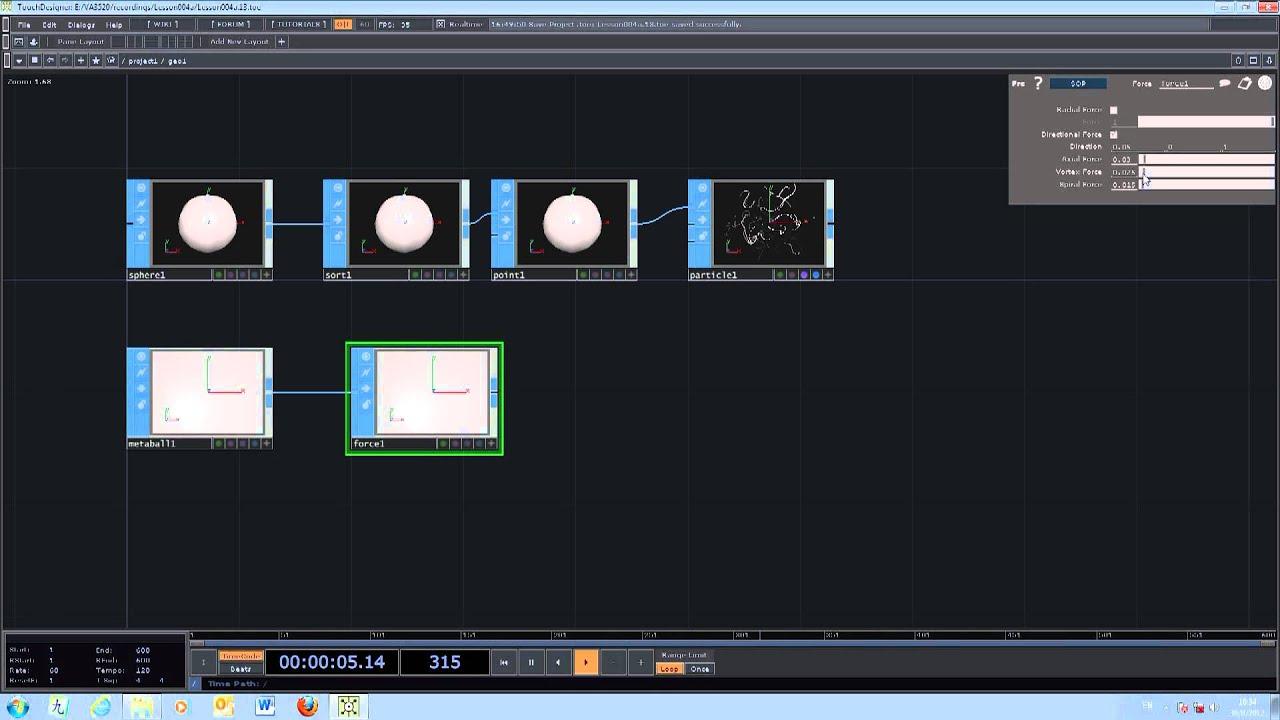 VA3520 Evolutionary Graphics - TouchDesigner - lesson 004C