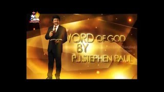 Subhavartha TV at 11 30 PM on 9-4-16 message by Dr.P.J. Stephen Paul