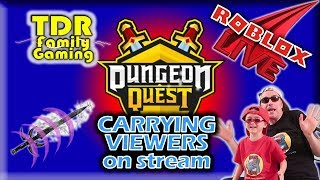 Roblox: Dungeon Quest - Helping Lower Level Players - Live Stream