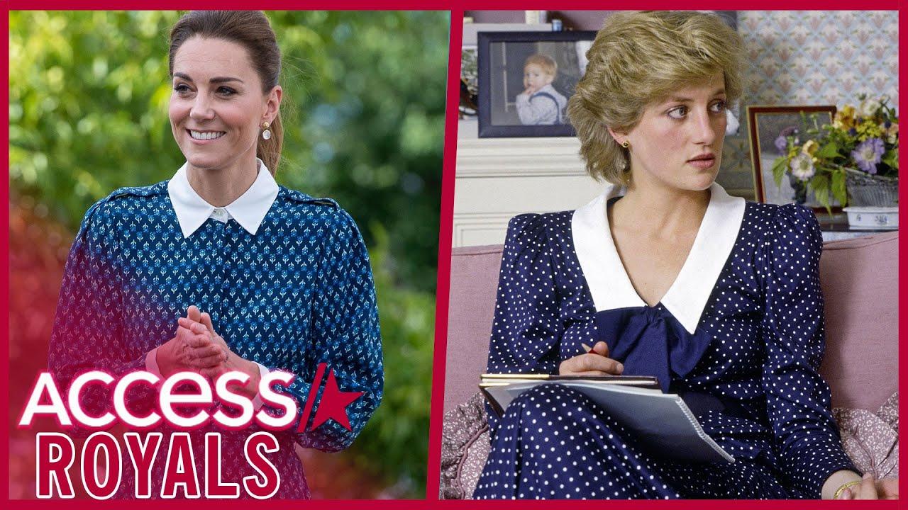 Kate Middleton Echoes Princess Diana's Fashion