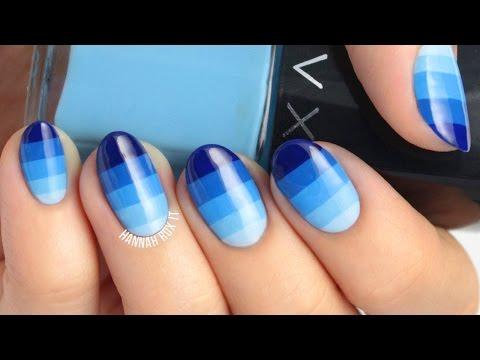 Ombre Color Block Nail Art
