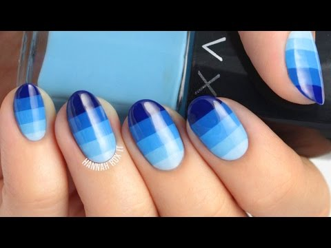 by ethnico-Ombre Color Block Nail Art