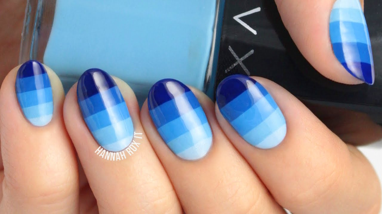 Ombre Color Block Nail Art - YouTube