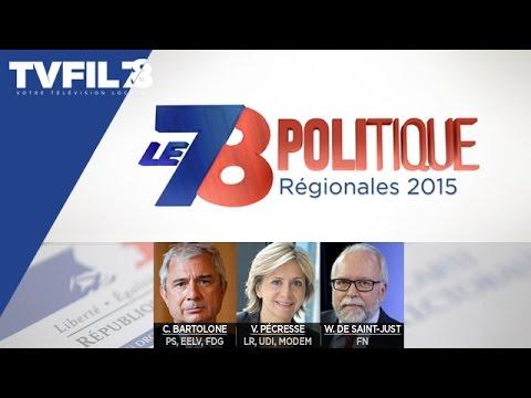 """Le 7/8 Politique – Edition spéciale """"1er tour des Régionales"""""""