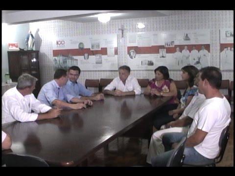 DEPUTADO ESTADUAL ITAMAR BORGES VISITA HOSPITAL DA SANTA CASA DE MOCOCA