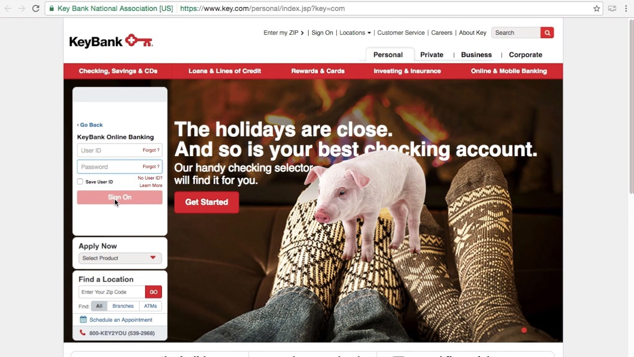 Key Bank Online Banking Login / Sign In - Pig Out - YouTube