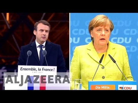 EU future tops agenda as Germany's Merkel hosts France's Macron