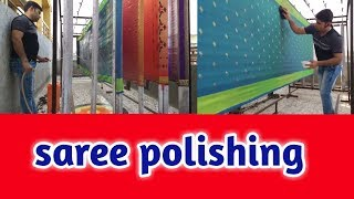 How to Saree polishing perfectly (Hindi)