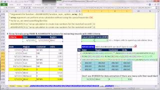 ctrl   shift   enter excel array formulas 16 formulas to extract records with criteria 23 examples