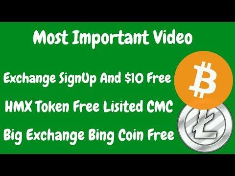 Cross Exchange 10$ BTC Free   20M HMX Token Free & Bitcoinbing Coin Free   BestEarningTips