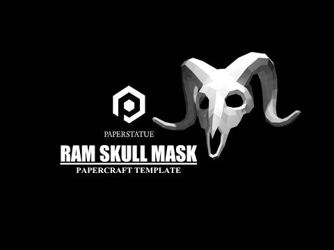 How to make Halloween mask Ram skull