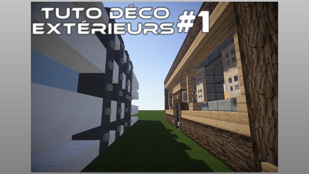 Minecraft   tuto déco   façades médiévale et moderne   youtube