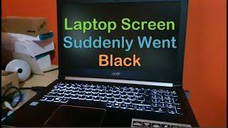 Laptop Screen went Black but still running Fix