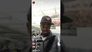 Mo Farah getting harassed(racist) on instagram live!