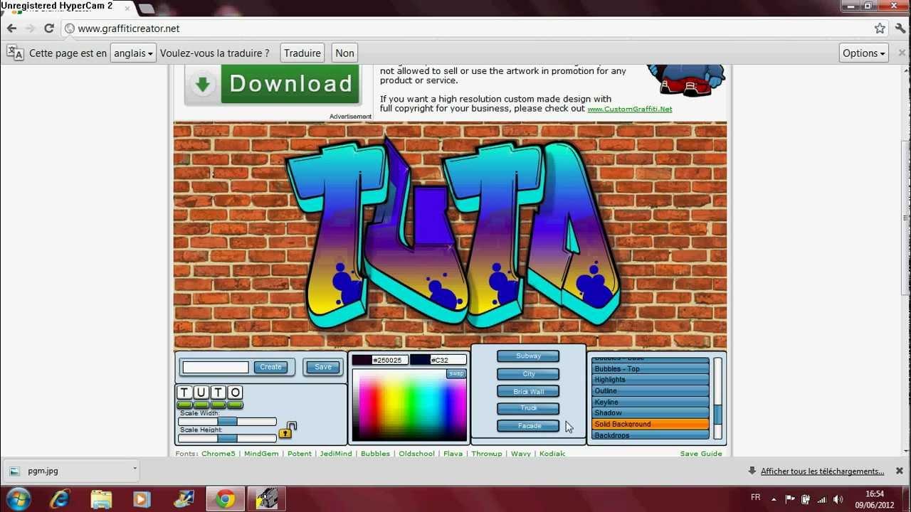 Graffiti creator how to save -  Tuto Graffiti Creator
