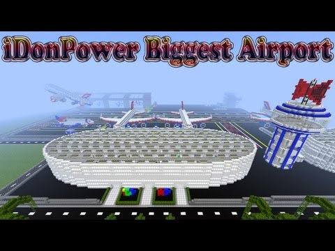 Minecraft Biggest Airport With lots of planes In It and shops