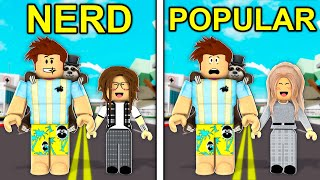 Raising NERD To POPULAR In Roblox Brookhaven..