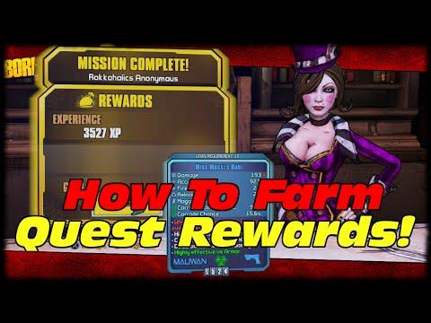 How To Farm Perfect Unique Mission Rewards! Borderlands 2 Quest Reward Farming!