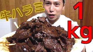 【大食い】大人気の牛ハラミを1kg全部食べる【飯テロ】 thumbnail