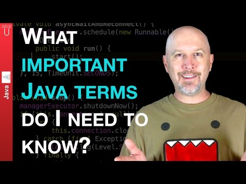 What important Java Terms do I need to know? - 001